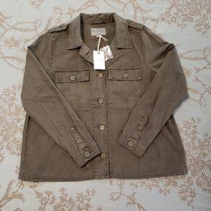 Lucky Brand Green Military Jacket/Shirt